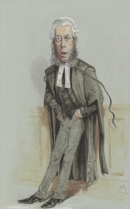 Robert Porrett Collier, 1st Baron Monkswell, by Alfred Thompson (Atn), published in Vanity Fair 19 February 1870 - NPG 2734 - © National Portrait Gallery, London