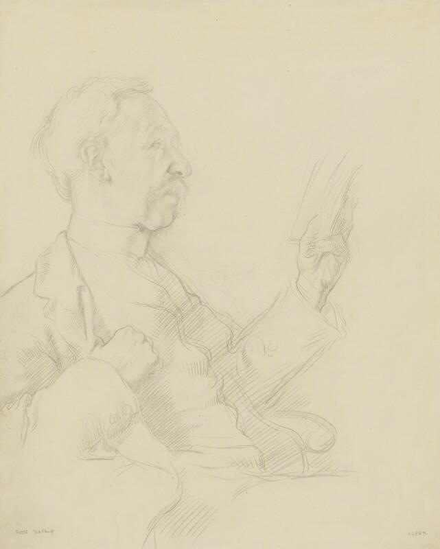 George Moore, by Sir William Orpen,  - NPG 2565 - © National Portrait Gallery, London