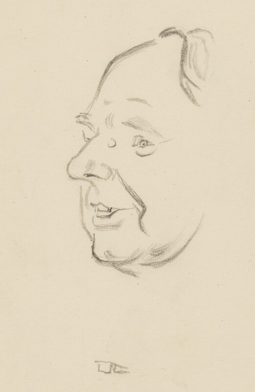 Henry Moore, by Sir David Low, 1949 or before - NPG 4529(256) - © Solo Syndication Ltd
