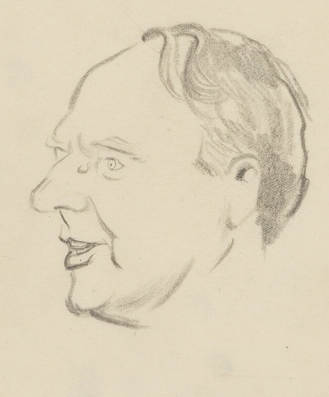Henry Moore, by Sir David Low, 1952 or before - NPG 4529(255) - © Solo Syndication Ltd