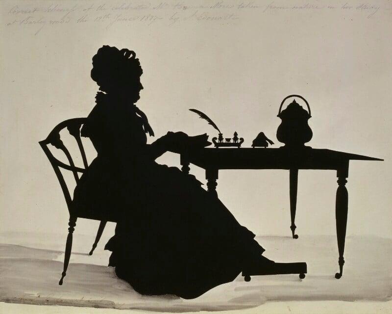 Hannah More, by Augustin Edouart, 1827 - NPG 4501 - © National Portrait Gallery, London