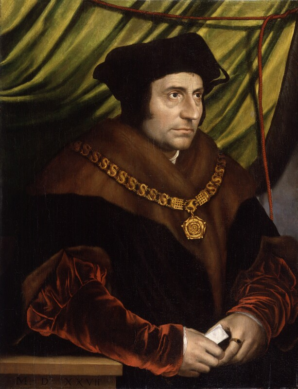 Sir Thomas More, after Hans Holbein the Younger, early 17th century, based on a work of 1527 - NPG 4358 - © National Portrait Gallery, London