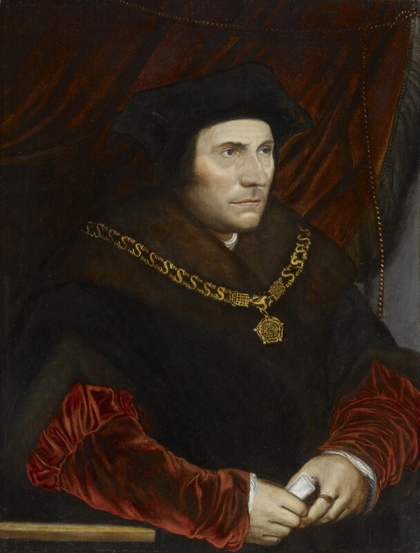 Sir Thomas More, after Hans Holbein the Younger, late 16th century, based on a work of 1527 - NPG 3543 - © National Portrait Gallery, London
