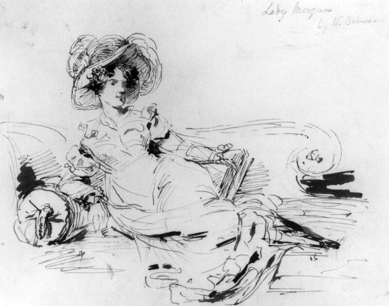 Sydney Morgan (née Owenson), Lady Morgan, by William Behnes,  - NPG 1177 - © National Portrait Gallery, London