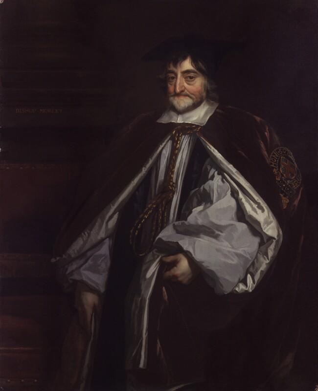 George Morley, studio of Sir Peter Lely, based on a work of circa 1662 - NPG 2951 - © National Portrait Gallery, London
