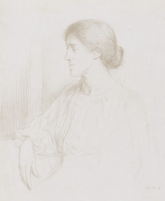 May Morris, by William Rothenstein, 1897 -NPG 3049 - © National Portrait Gallery, London