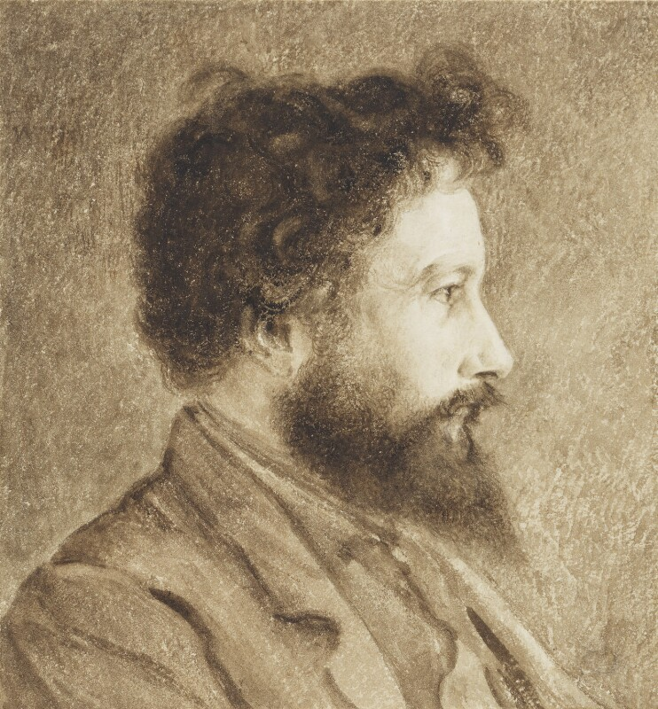 William Morris, by Charles Fairfax Murray, circa 1870 -NPG 3652 - © National Portrait Gallery, London