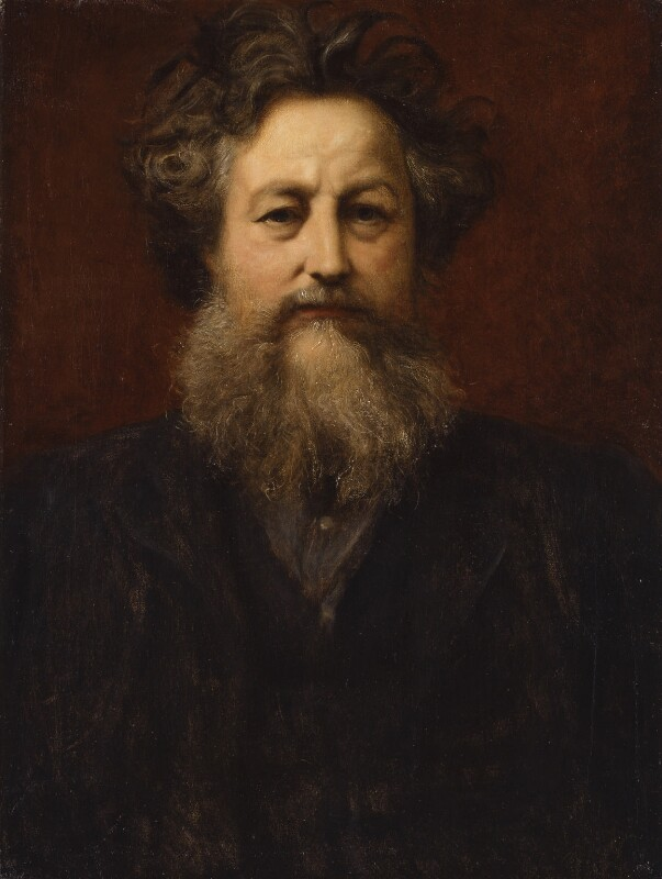 William Morris, by Sir William Blake Richmond, circa 1880s -NPG 1938 - © National Portrait Gallery, London