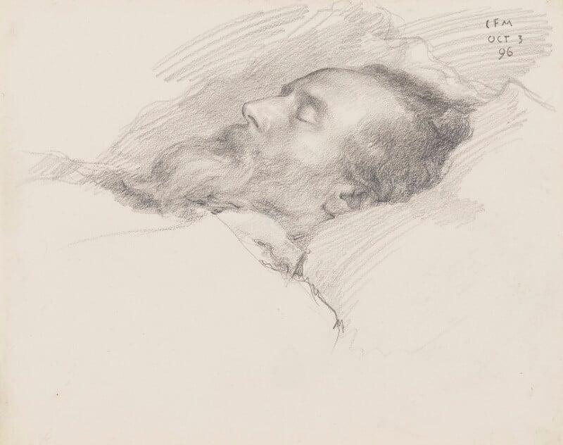 William Morris, by Charles Fairfax Murray, 1896 - NPG 3021 - © National Portrait Gallery, London