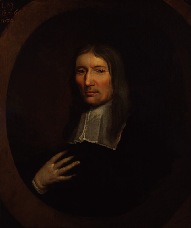Lodowicke Muggleton, by or after William Wood, 1674 - NPG 557 - © National Portrait Gallery, London