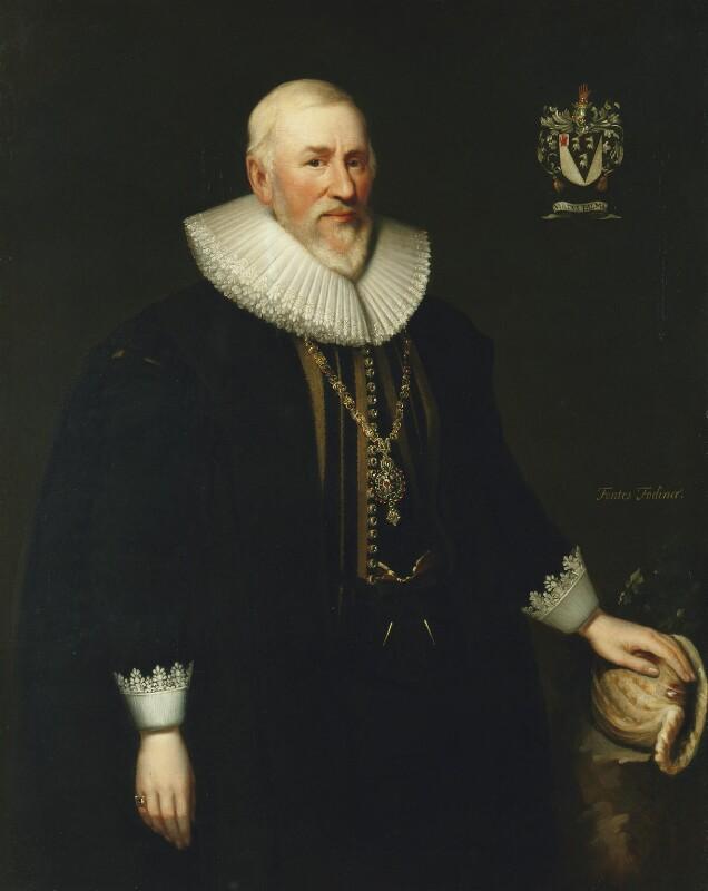 Sir Hugh Myddelton, 1st Bt, after Cornelius Johnson (Cornelius Janssen van Ceulen), 17th-19th century, based on a work of 1628 - NPG 2192 - © National Portrait Gallery, London