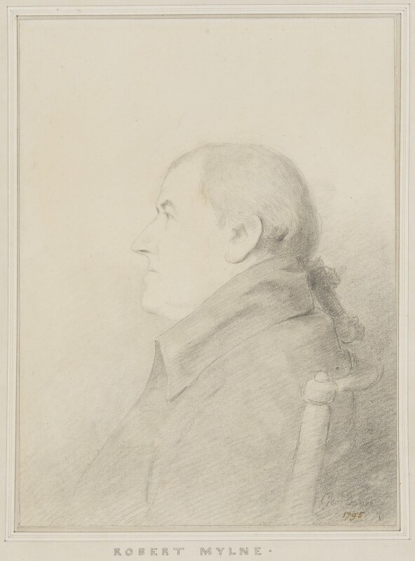 Robert Mylne, by George Dance, 1795 - NPG 1150 - © National Portrait Gallery, London