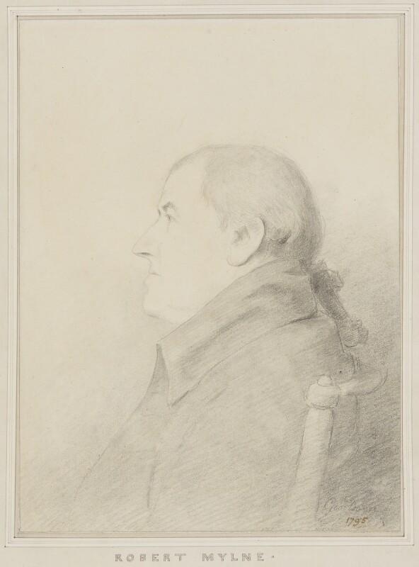 Robert Mylne, by George Dance, 1795 - NPG 1150 - © National Portrait Gallery, London