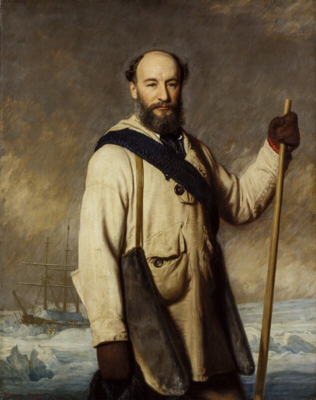 Sir George Strong Nares, by Stephen Pearce, 1877 -NPG 1212 - © National Portrait Gallery, London