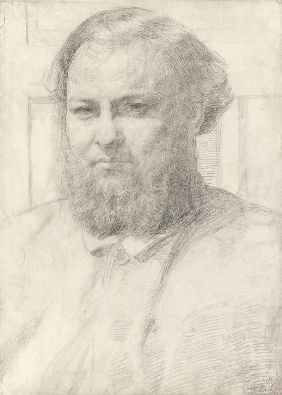 William Eden Nesfield, by Sir William Blake Richmond, circa 1859 -NPG 4354 - © National Portrait Gallery, London