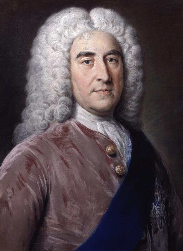 Thomas Pelham-Holles, 1st Duke of Newcastle-under-Lyne, by William Hoare, circa 1752 - NPG 757 - © National Portrait Gallery, London