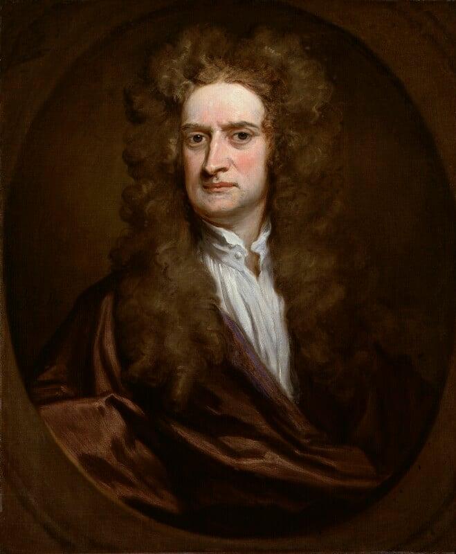 Sir Isaac Newton, by Sir Godfrey Kneller, Bt, 1702 -NPG 2881 - © National Portrait Gallery, London