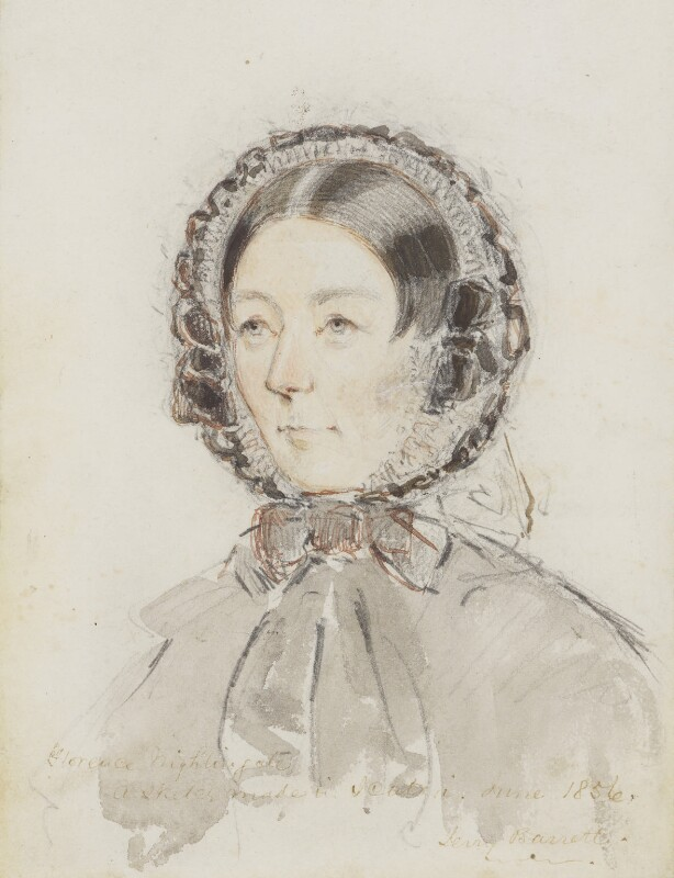 Florence Nightingale, by Jerry Barrett, 1856 - NPG 2939 - © National Portrait Gallery, London
