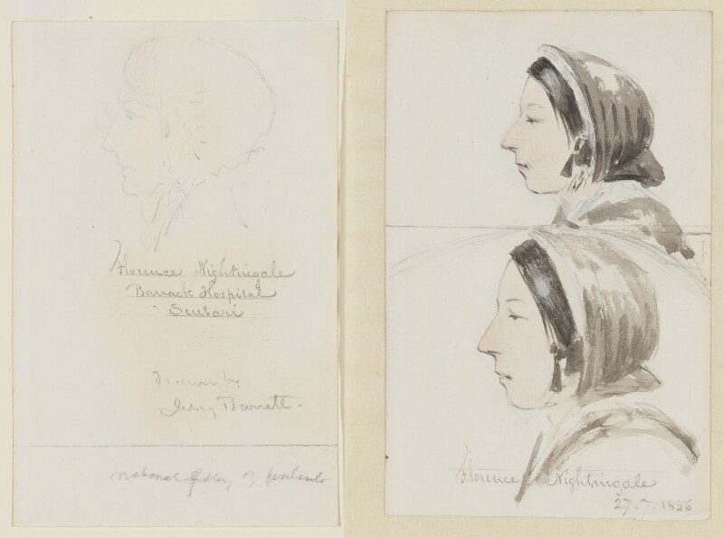 Florence Nightingale, by Jerry Barrett, 1856 - NPG 3303 - © National Portrait Gallery, London