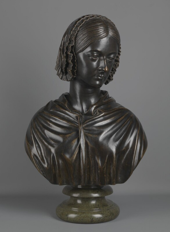 Florence Nightingale, by Sir John Robert Steell, cast by  Alessandro Parlanti, 1859-1862 - NPG 1748 - © National Portrait Gallery, London