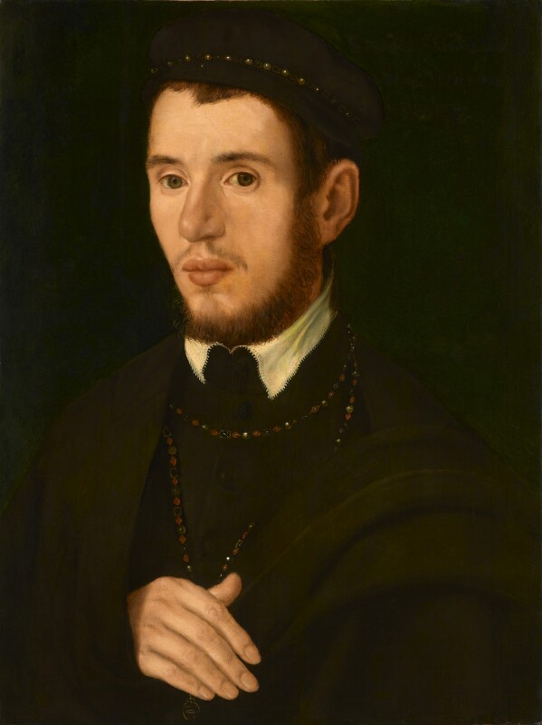 Unknown man, formerly known as Thomas Howard, 4th Duke of Norfolk, by Unknown artist, circa 1560 - NPG 1732 - © National Portrait Gallery, London