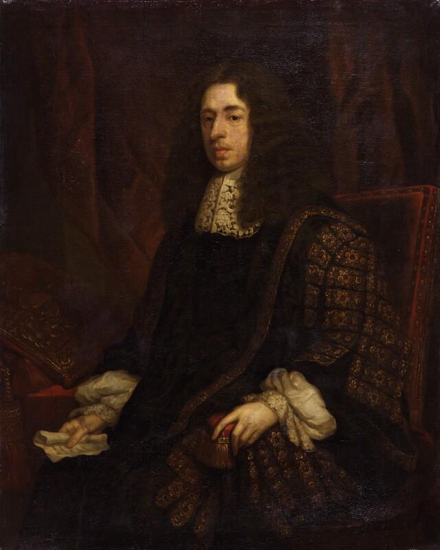Heneage Finch, 1st Earl of Nottingham, after Sir Godfrey Kneller, Bt, based on a work of 1680? - NPG 1430 - © National Portrait Gallery, London