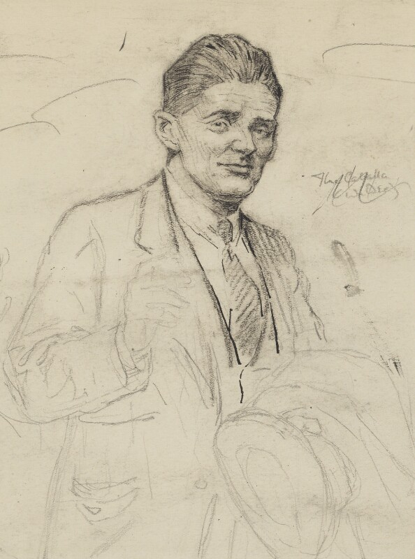 William Richard Morris, Viscount Nuffield, by Bernard Partridge, study for drawing published in Punch 14 September 1927 - NPG 3674 - © National Portrait Gallery, London