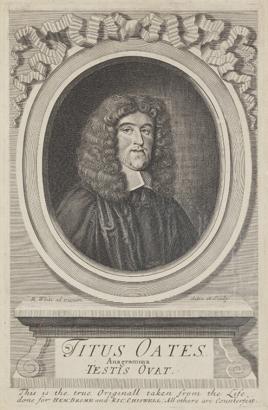 Titus Oates, by Robert White, engraved 1679 - NPG 634 - © National Portrait Gallery, London