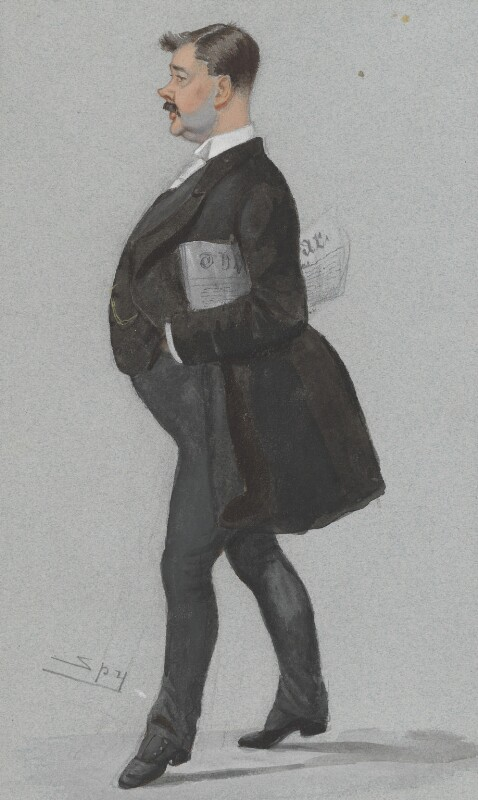 Thomas Power O'Connor, by Sir Leslie Ward, published in Vanity Fair 25 February 1888 - NPG 3127 - © National Portrait Gallery, London