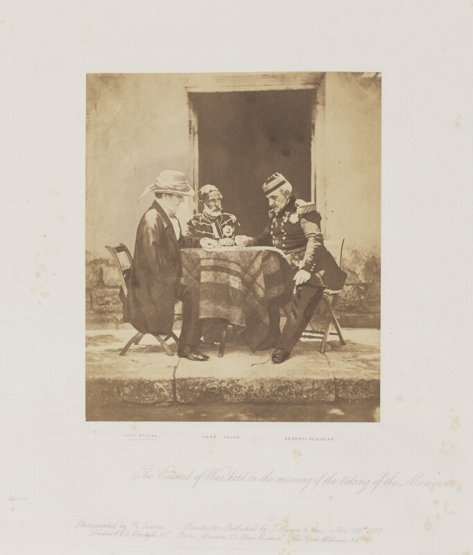 The Council of War on the day of the taking of the Mamelon Quarries, 7 June 1855, by Roger Fenton, 6 June 1855 - NPG P49 - © National Portrait Gallery, London