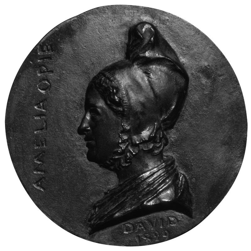 Amelia Opie, by Pierre-Jean David D'Angers, cast by  Louis Richard, 1829 - NPG 1081 - © National Portrait Gallery, London