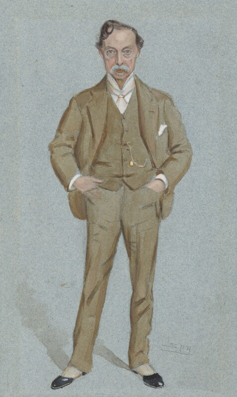 Sir William Quiller Orchardson, by Sir Leslie Ward, published in Vanity Fair 24 March 1898 - NPG 5005 - © National Portrait Gallery, London