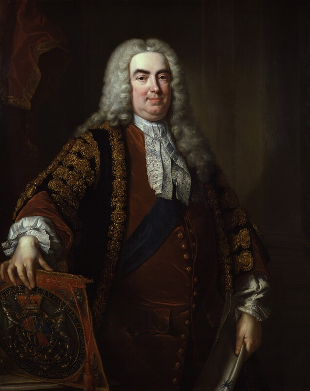 Robert Walpole, 1st Earl of Orford, studio of Jean Baptiste van Loo, 1740 - NPG 70 - © National Portrait Gallery, London
