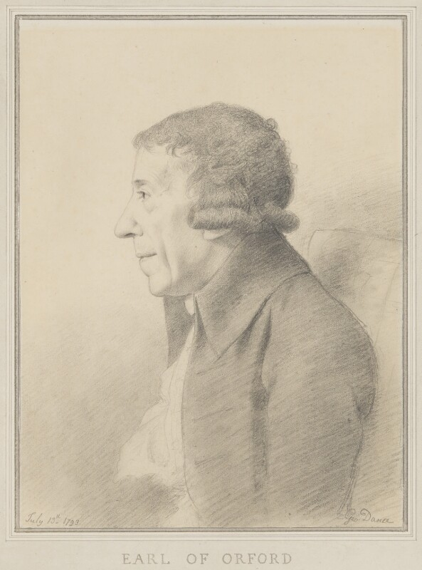 Horace Walpole, by George Dance, 1793 -NPG 1161 -