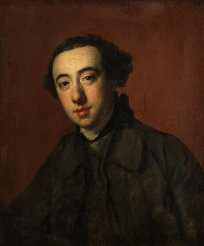 Unknown man, formerly known as Horace Walpole, by Nathaniel Hone, circa 1765 -NPG 116 - © National Portrait Gallery, London