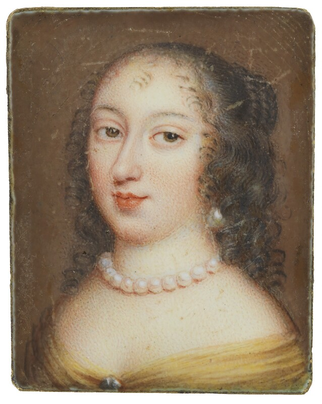 Henrietta Anne, Duchess of Orleans, copy attributed to Jean Petitot, possibly after  Pierre Mignard, 17th century? - NPG 1606 - © National Portrait Gallery, London