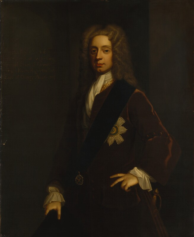 Charles Boyle, 4th Earl of Orrery, by Unknown artist, based on a work of 1707 - NPG 894 - © National Portrait Gallery, London