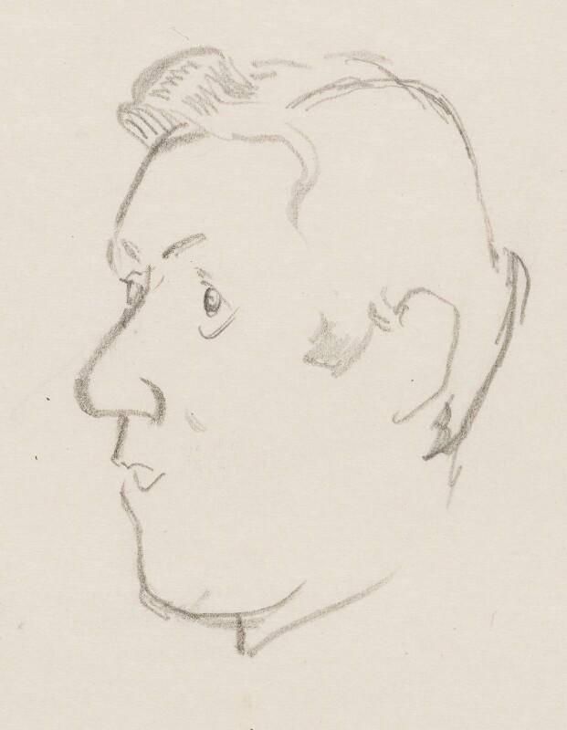 John Osborne, by Sir David Low, 1952 or before - NPG 4529(258) - © Solo Syndication Ltd