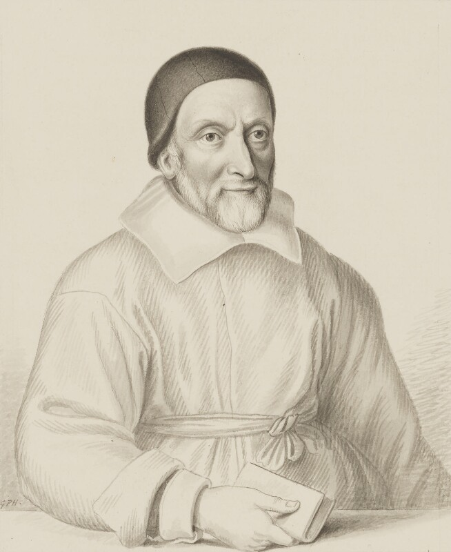 William Oughtred, copy by George Perfect Harding, after an engraving by  Wenceslaus Hollar, 19th century, based on a work of 1644 - NPG 2906a - © National Portrait Gallery, London