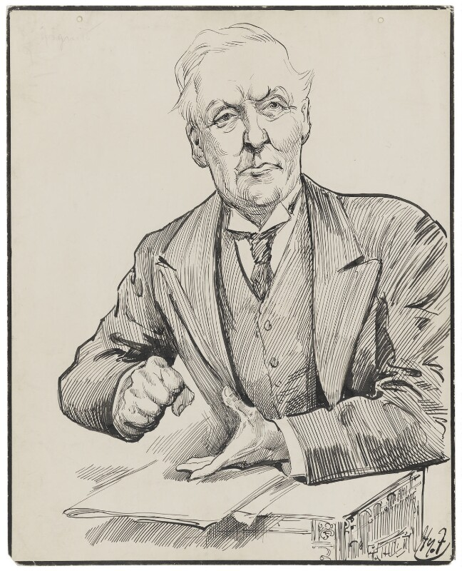 Herbert Henry Asquith, 1st Earl of Oxford and Asquith, by Harry Furniss, 1880s-1900s - NPG 3402 - © National Portrait Gallery, London