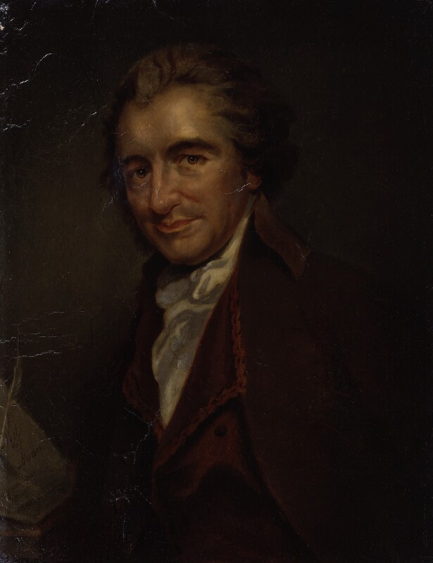 Thomas Paine, copy by Auguste Millière, after an engraving by  William Sharp, after  George Romney, circa 1876, based on a work of 1792 - NPG 897 - © National Portrait Gallery, London