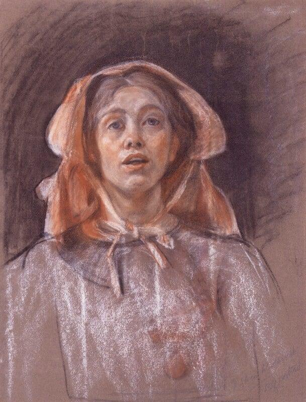 Sylvia Pankhurst, by Sylvia Pankhurst, circa 1907-1910 - NPG 4999 - © National Portrait Gallery, London