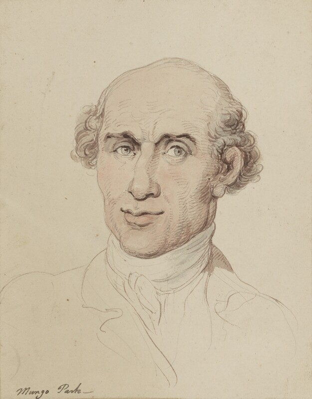 Mungo Park, by Thomas Rowlandson, circa 1805 -NPG 4924 - © National Portrait Gallery, London