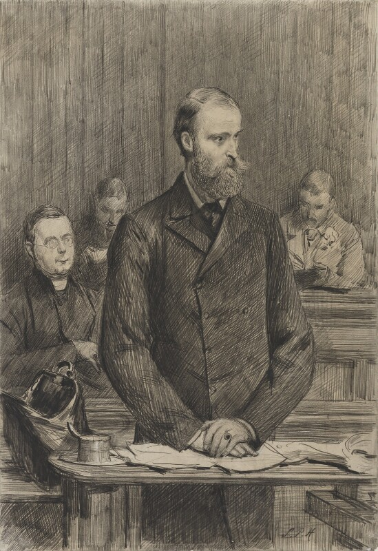 Group including Charles Stewart Parnell, and William J. Walsh, by Sydney Prior Hall, 1888-1889 - NPG 2229 - © National Portrait Gallery, London