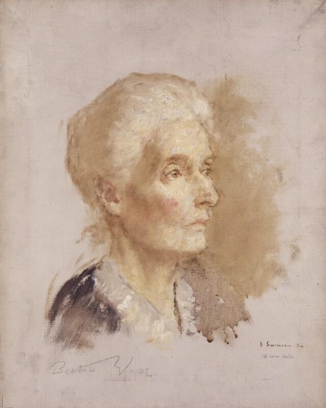 Beatrice Webb, by Edward Spilsbury Swinson, 1934 - NPG 4066 - © National Portrait Gallery, London