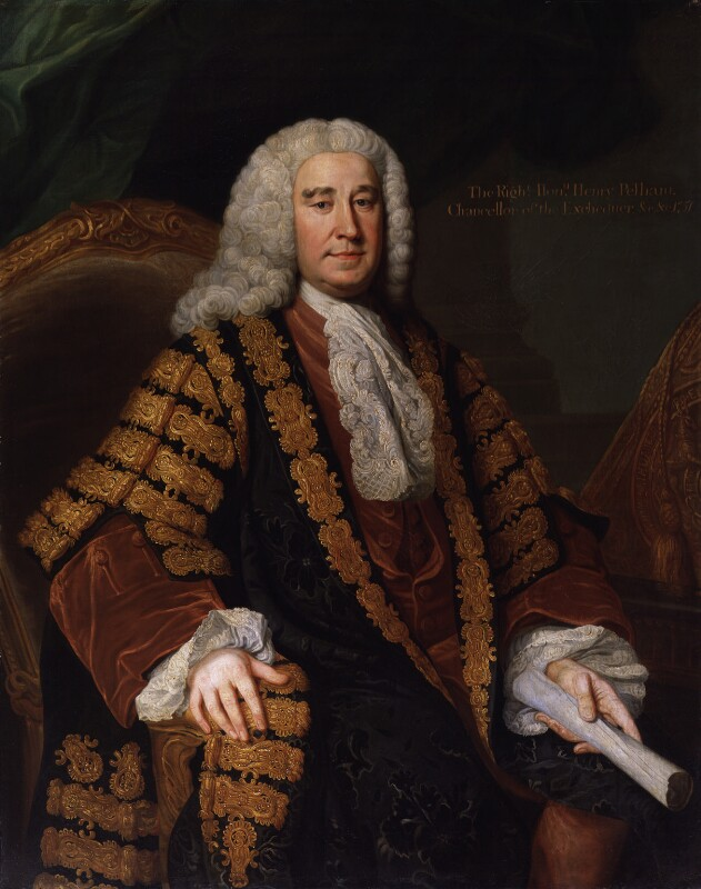Henry Pelham, by William Hoare, 1751 - NPG 221 - © National Portrait Gallery, London