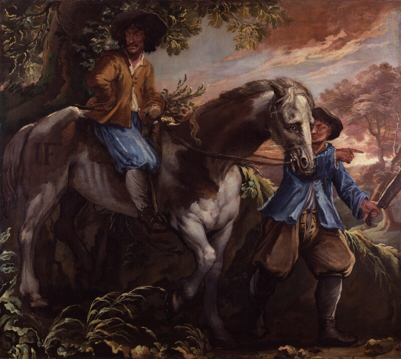 King Charles II on Humphrey Penderel's Mill Horse, by Isaac Fuller, 1660s? - NPG 5250 - © National Portrait Gallery, London