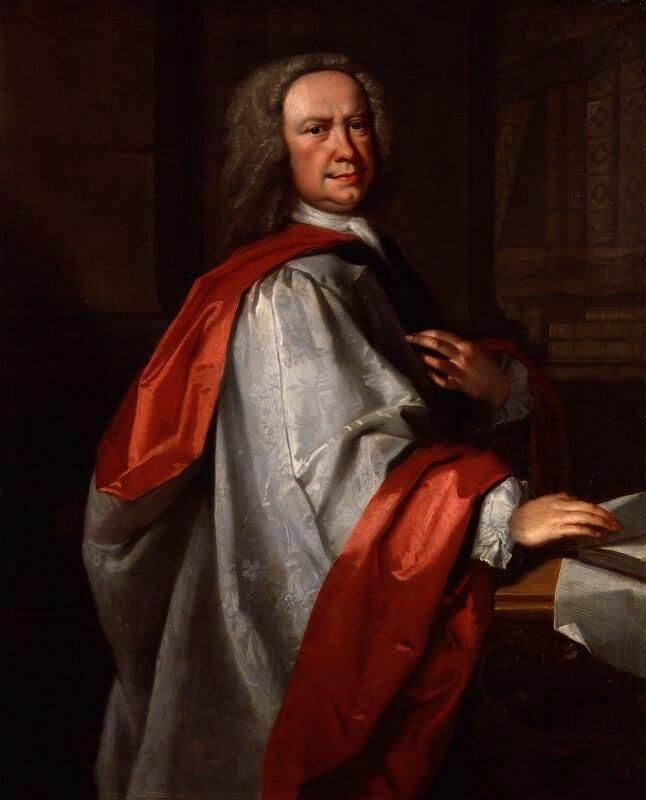 Johann Christoph Pepusch, by Thomas Hudson, circa 1735 - NPG 2063 - © National Portrait Gallery, London