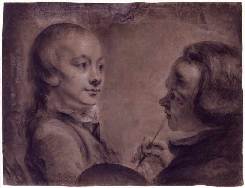 Robert West; Matthew William Peters, by Matthew William Peters, 7 November 1758 -NPG 2169 - © National Portrait Gallery, London