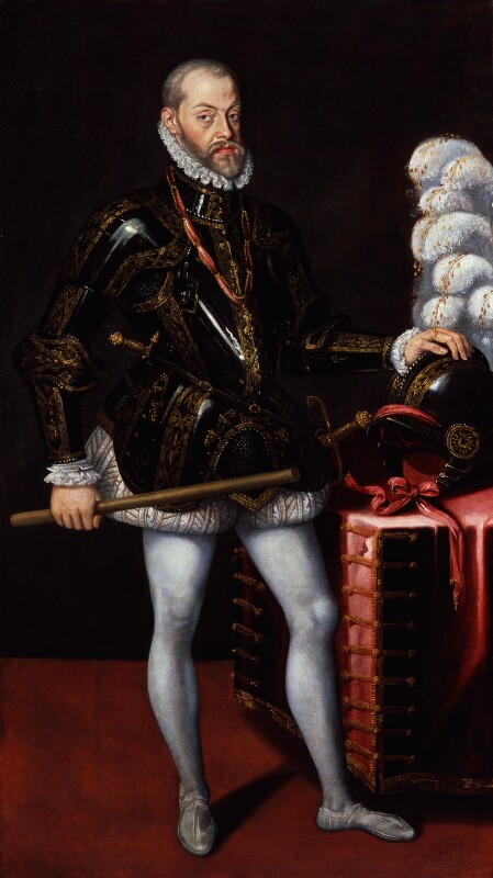 Philip II, King of Spain, by Unknown artist, circa 1580 - NPG 347 - © National Portrait Gallery, London